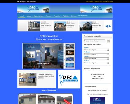 Site de l'agence DFC Immobilier