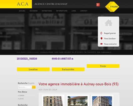 Agence immobiliere Aulnay - A.C.A. (AGENCE...