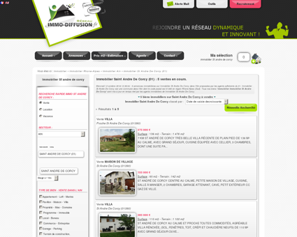 Immobilier Saint Andre De Corcy : Immo...