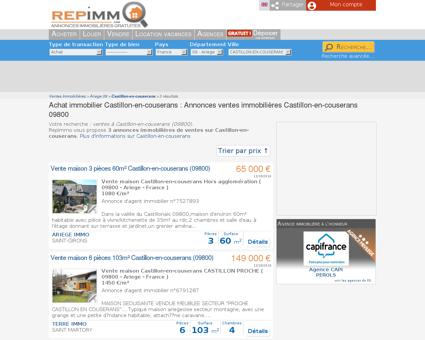 Achat immobilier Castillon-en-couserans :...