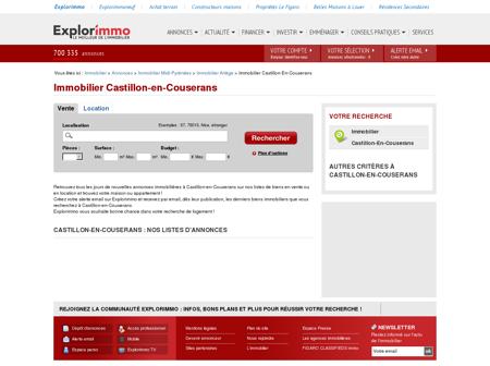 Immobilier Castillon-en-Couserans :...
