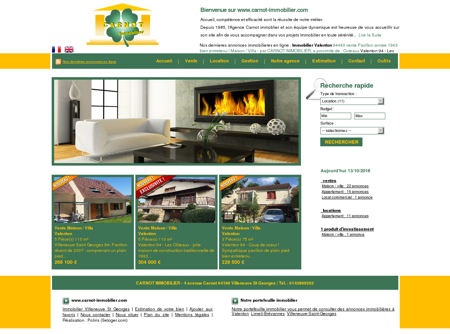 Agence immobilière CARNOT IMMOBILIER -...