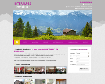 INTERALPES IMMOBILIER - Agence...