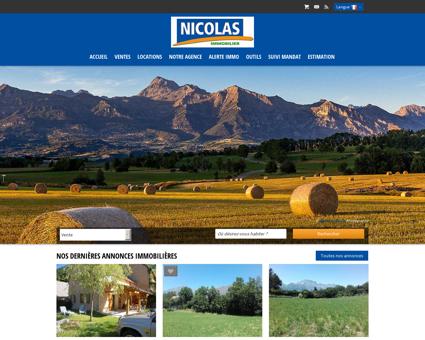 Nicolas Immobilier, Agence immobilière à...