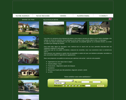 Immobilier en Gascogne dans le Gers, l'Agence...
