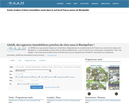 GAAM Immobilier : Groupement d'Agences...