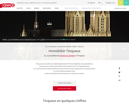 Immobilier Tinqueux - Biens immobiliers...