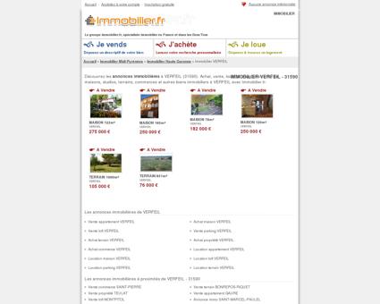 IMMOBILIER VERFEIL (31590) : achat, vente,...