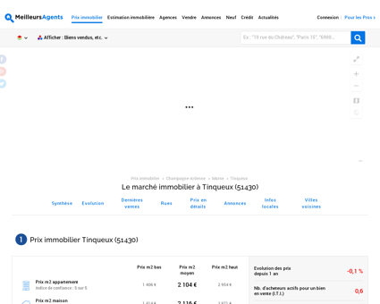 Prix immobilier Tinqueux (51430) -...