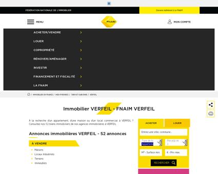 Immobilier VERFEIL - Les annonces...