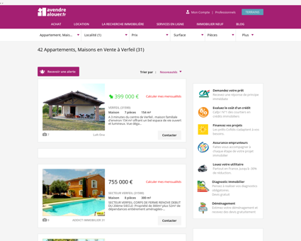 immobilier à verfeil | avendrealouer.fr