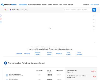 Prix immobilier Portet-sur-Garonne (31120)