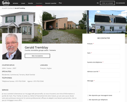 Gerald Tremblay - Courtier immobilier Rouyn...