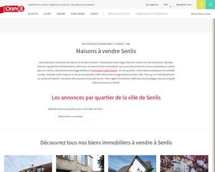 Achat - Vente Maison à Senlis - Orpi immobilier