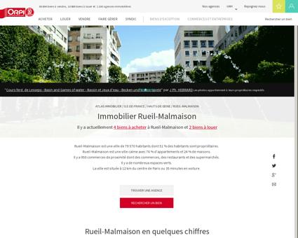 Immobilier Rueil malmaison - Biens...