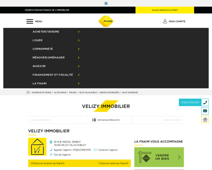 Agence - VELIZY IMMOBILIER - 78140 -...