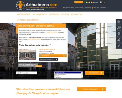 Agence immobilière ARTHURIMMO SAVIGNY,...