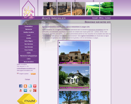 Agence immobiliere à Langon (33210) : Agate...