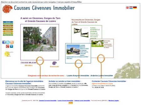 Agence immobilière Causses Cévennes...