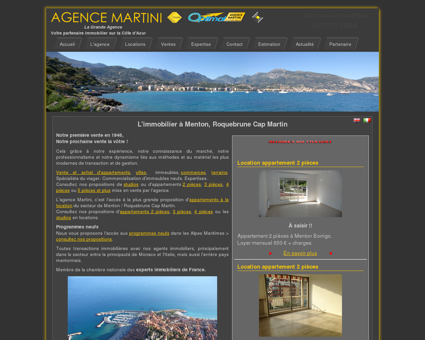 L'immobilier à Menton, Roquebrune Cap Martin