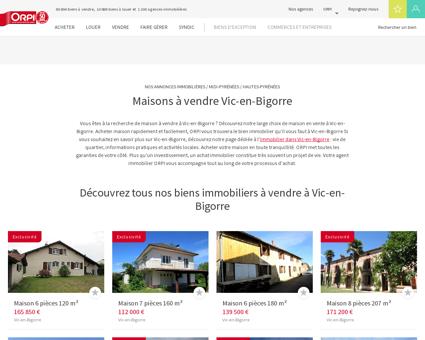 Achat - Vente Maison à Vic en bigorre - Orpi...