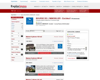 BOURSE DE L'IMMOBILIER - Excideuil : agence...