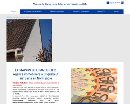 Agence immobilière à Criquebeuf sur Seine - La...