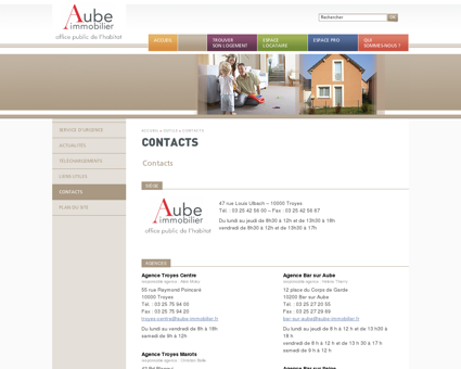 Contacts | Aube Immobilier