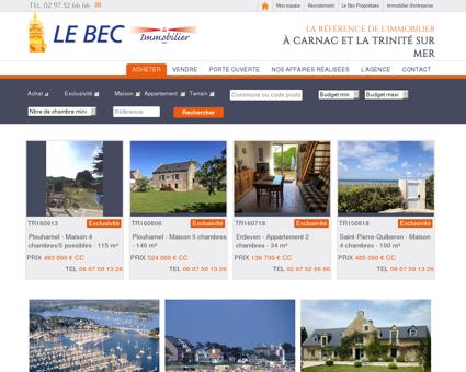 Le Bec Immobilier à Carnac et La Trinité sur...