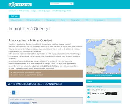 Immobilier Quérigut , Ariège : annonces...