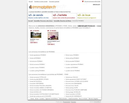 IMMOBILIER ROGNAC (13340) : achat, vente,...