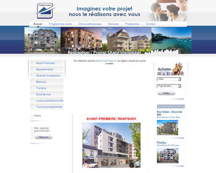 Promo Ouest Immobilier - Programmes...