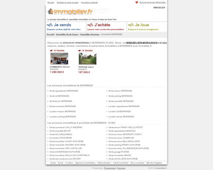 IMMOBILIER MORANGIS (91420) : achat,...