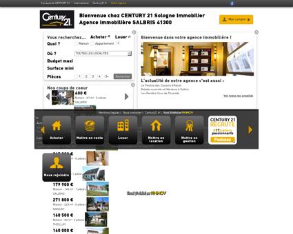 Agence immobilière SALBRIS CENTURY 21...