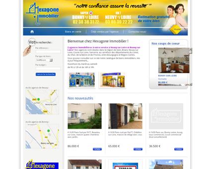 Hexagone immobilier - 2 agences...
