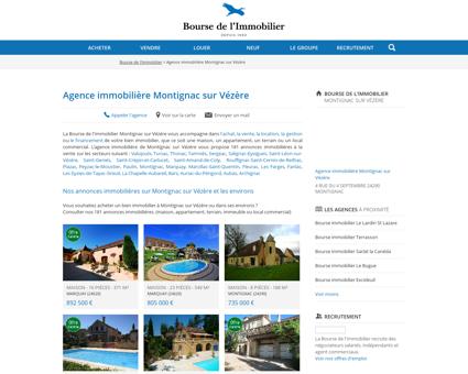 Agence immobilière Montignac sur Vézère...