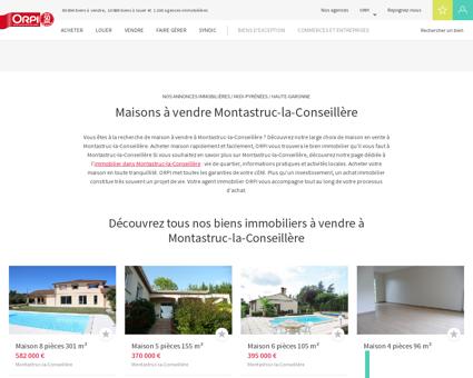 Achat - Vente Maison à Montastruc la...