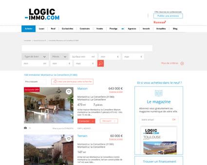 Immobilier Montastruc la Conseillere (31380)