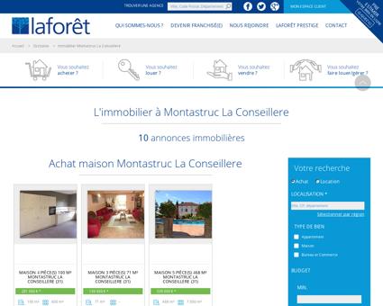 Immobilier Montastruc La Conseillere,...