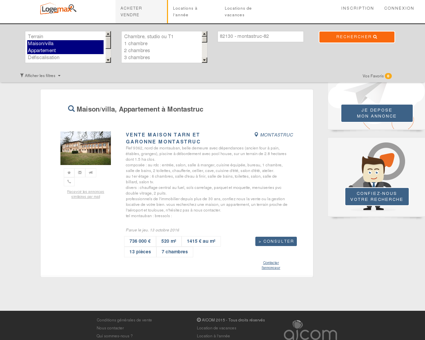 Immobilier montastruc - Tous types appartements et villas.