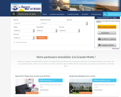 Immobilier La Grande Motte : acheter, louer à...