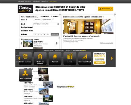 Agence immobilière MONTFERMEIL CENTURY...
