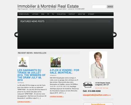 Immobilier à Montréal Real Estate