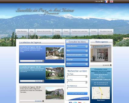 Immobilier des Pays du Mont Ventoux |...