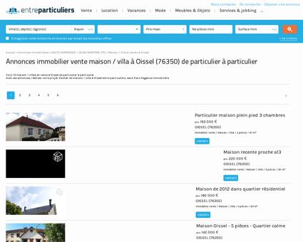 Annonces immobilier vente maison / villa à...