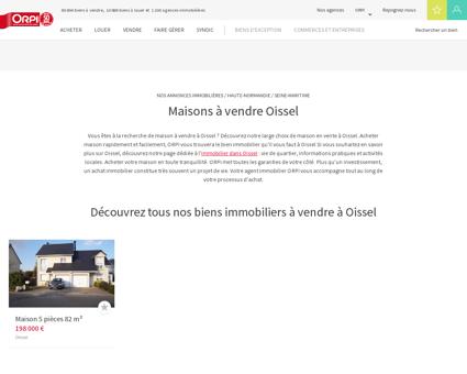 Achat - Vente Maison à Oissel - Orpi immobilier