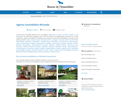 Agence immobilière Mirande - Immobilier,...