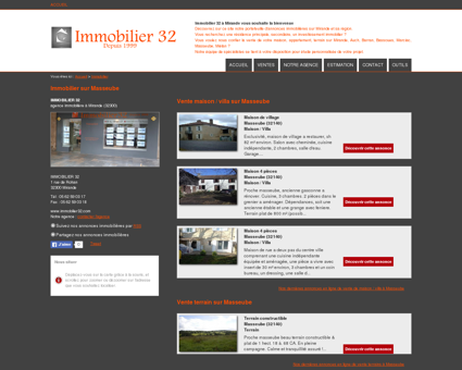 Immobilier Masseube : IMMOBILIER 32