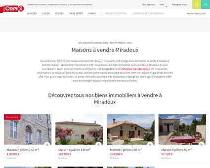 Achat - Vente Maison à Miradoux - Orpi...
