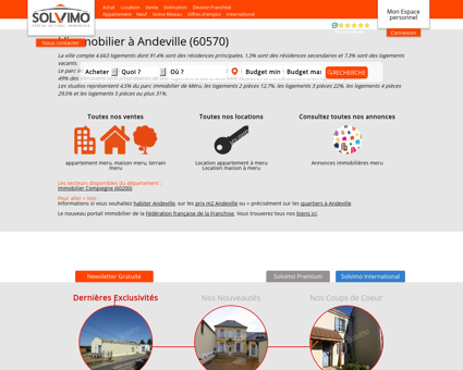 Immobilier Andeville Solvimo